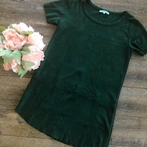 {Boutique} Hunter Green Suede Dress